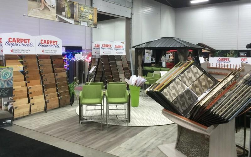 Carpet Superstores Edmonton at the Edmonton Home & Garden Show in 2016